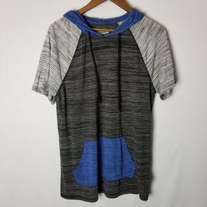 🐧Brooklyn Cloth Raglan Short Sleeve Hooded Top